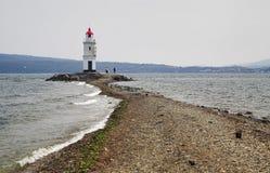 Faro en Vladivostok, Rusia Imagen de archivo libre de regalías