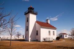 Faro Escanaba Michigan Little Bay De Noc del punto de la arena Fotografía de archivo libre de regalías