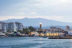 Faro a Estepona Provincia di Malaga, Spagna Immagini Stock Libere da Diritti