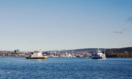 Faro - fiordo di Oslo Immagine Stock