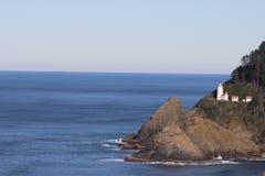 Faro Florence Sea Lion Caves della costa dell'Oregon Fotografia Stock Libera da Diritti