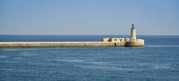 Faro forte La Valletta Malta di St Elmo Fotografie Stock