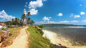 Faro a Galle, Sri Lanka immagine stock