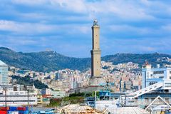 Faro a Genova, Italia fotografie stock libere da diritti