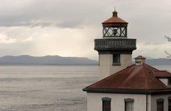 Faro Haro Strait Maritime Nautical Beacon del forno a calce Fotografie Stock Libere da Diritti