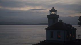 Faro Haro Strait Maritime Nautical Beacon del horno de cal almacen de video