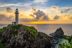 Faro imponente en la isla foto de archivo libre de regalías