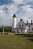 Faro Iroquois de la punta, Michigan Foto de archivo libre de regalías