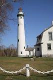 Faro - isola di Presque, Michigan Fotografia Stock