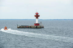 Faro Kiel della stazione di monitoraggio di radioattività Immagini Stock