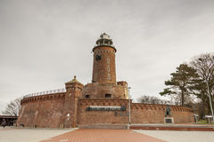 Faro Kolobrzeg - in Polonia. Fotografia Stock