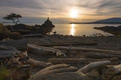 Faro largo de las montañas de la exposición de la isla de Bowen Fotografía de archivo