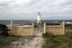Faro leggiadramente del porto sull'isola di Griffiths Fotografia Stock Libera da Diritti
