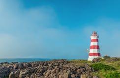 Faro ligero occidental en la isla del escaramujo Imágenes de archivo libres de regalías
