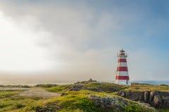 Faro ligero occidental en la isla del escaramujo Imagen de archivo