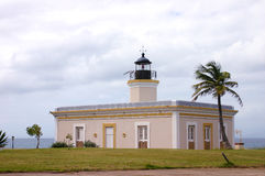 Faro (Lighthouse) Puta Mulas, Vieques, Puerto Rico. Isabel Segunda Town.  East of puerto Rico, Carribean Sea Royalty Free Stock Images