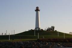 Faro in Long Beach Fotografia Stock