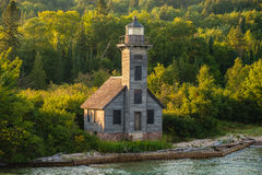 Faro magnífico de la isla, Munising, Michigan Fotografía de archivo libre de regalías