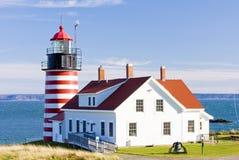Faro in Maine Fotografie Stock