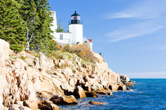 Faro in Maine Fotografia Stock Libera da Diritti