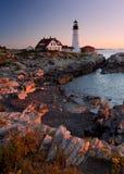 Faro in Maine Immagini Stock Libere da Diritti
