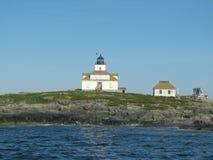 Faro Maine, U.S.A. della roccia dell'uovo Fotografie Stock