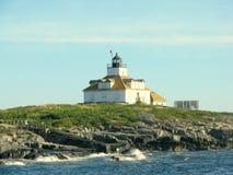 Faro Maine, U.S.A. della roccia dell'uovo Immagini Stock Libere da Diritti