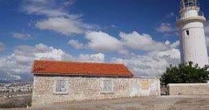 Faro majestuoso de Paphos almacen de video