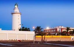 Faro a Malaga fotografia stock