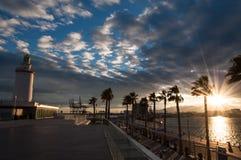 Faro a Malaga in Andalusia, Spagna Fotografia Stock