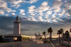 Faro a Malaga in Andalusia, Spagna Fotografie Stock