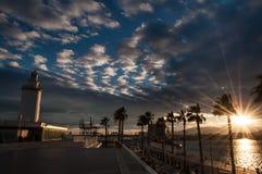 Faro a Malaga in Andalusia, Spagna Immagine Stock