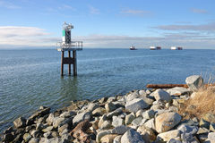 Faro marítimo de la seguridad imagen de archivo