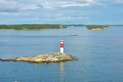 Faro in Mar Baltico Fotografia Stock