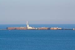 Faro in mare immagini stock libere da diritti