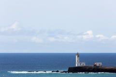 Faro Maria Pia, Praia, Capo Verde Fotografia Stock Libera da Diritti