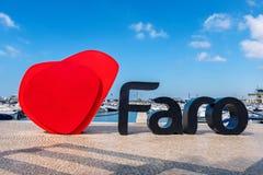 Faro marina. Algarve, Portugal Royalty Free Stock Photos