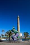 Faro, Maspalomas, Gran  Canaria. Lighthouse at Atlantic coast in Maspalomas, Gran Canaria Royalty Free Stock Images