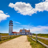 Faro Massachusetts Stati Uniti di Cape Cod Truro Immagini Stock Libere da Diritti