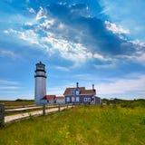 Faro Massachusetts Stati Uniti di Cape Cod Truro Immagini Stock