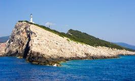 Faro meridional de Lefkada Fotos de archivo