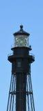 Faro negro, playa del pompano, la Florida Imagen de archivo libre de regalías
