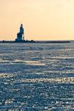 Faro nel ghiaccio Immagine Stock