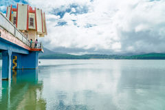 faro nel lago Fotografia Stock Libera da Diritti