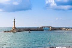 Faro nel mare Alessandria d'Egitto nel almontazah dell'Egitto fotografie stock