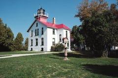 Faro nel Michigan del Nord fotografia stock