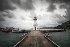 Faro nell'isola di Koh Chang, Tailandia Fotografia Stock