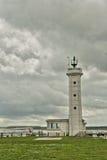 Faro nella baia di Somme immagine stock
