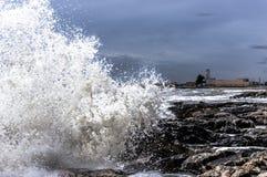 Faro nellatempesta Fotografering för Bildbyråer