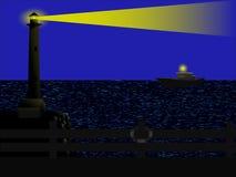 Faro nello scuro Fotografia Stock